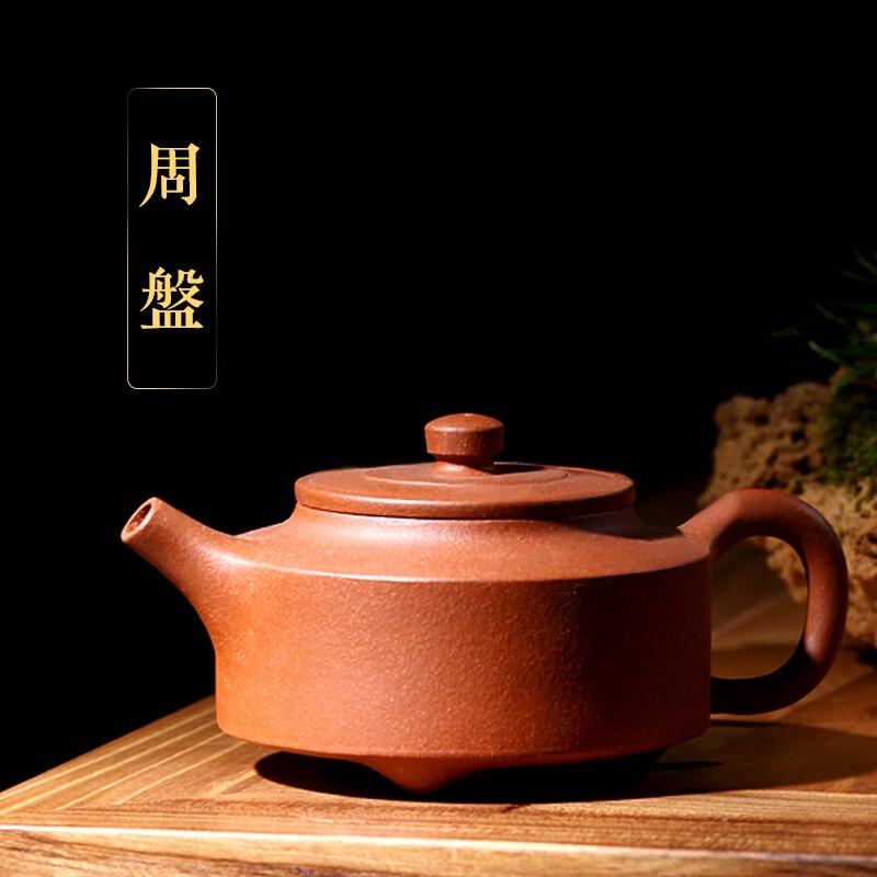 [pottery source] Yixing Li Xiaolu pure all hand master teapot, purple clay pot, gold drop slope, clay pan pot