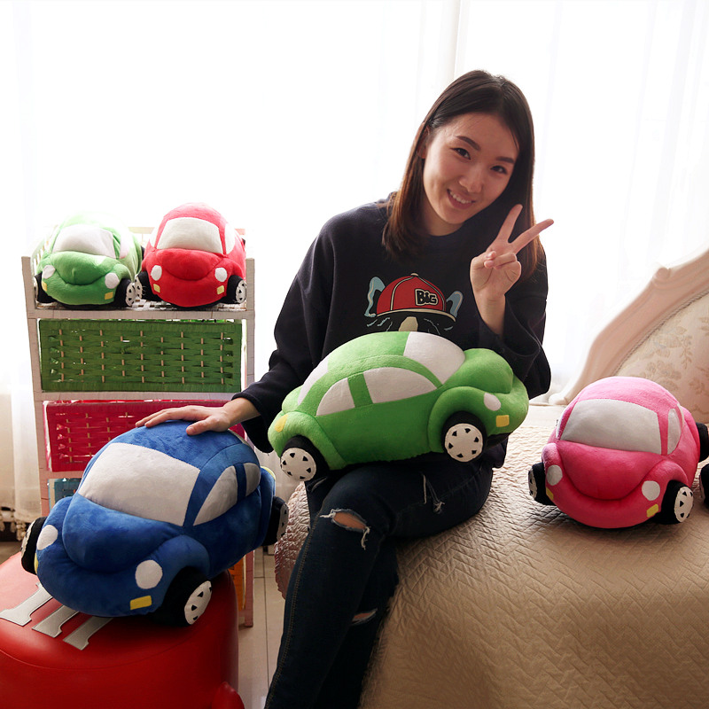 Candice guo plush toy motor vehicle cute cartoon car shape automobile stuffed doll funny pillow cushion birthday christmas gift candice guo plush toy stuffed doll cute minnie mickey lovely rest office air multi function pillow cushion blanket birthday gift
