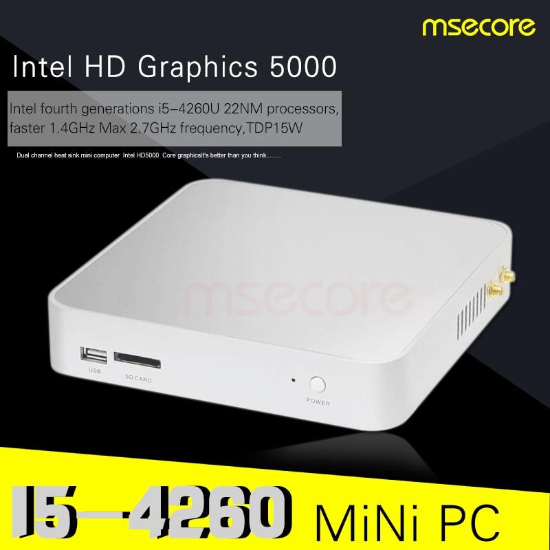Intel I5 4260U Mini PC Windows 10 Desktop Computer Pocket PC barebone system Nettop NUC TV