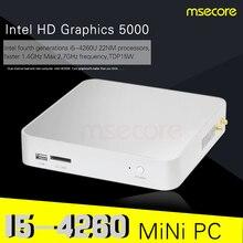 Intel i5 4260u mini pc windows 10 настольный компьютер pocket pc система barebone Неттоп КНУ TV Box Haswell HD5000 Графика 300 М WiFi