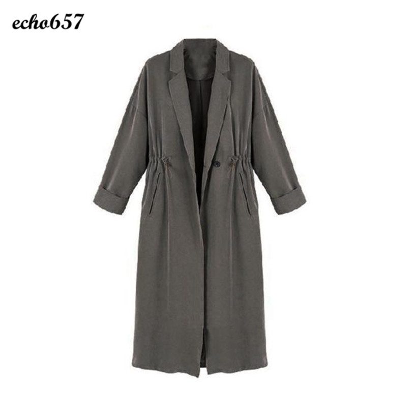 Women Coat New Design Echo657 Hot Sale Fashion Women Lady Windbreaker Casual Cardigan Long Tops Trench Outwear Coat Nov 28