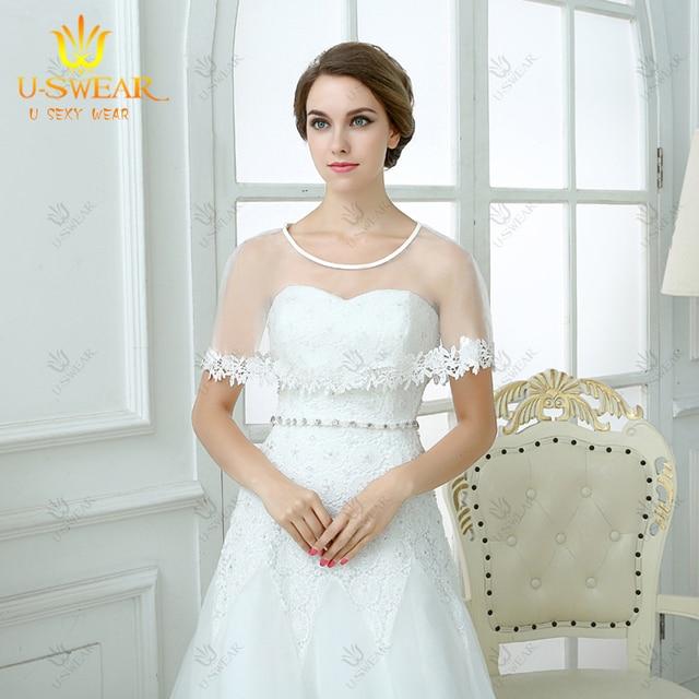 Wedding Bolero Bridal Shrug Coprispalle Lace Jacket Tulle PJ302