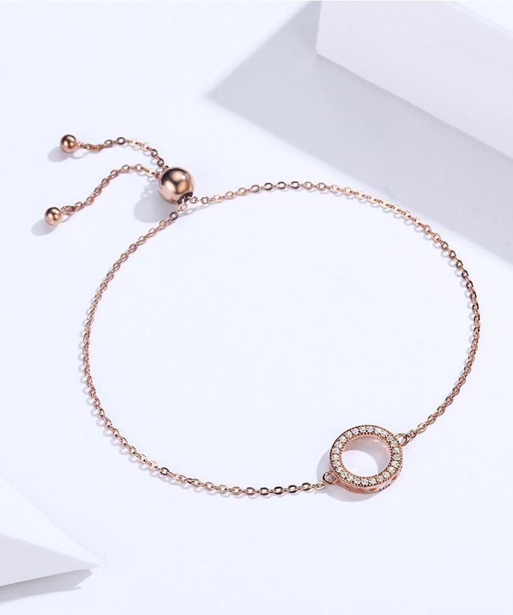 HTB19Ha7X1bviK0jSZFNq6yApXXaP BAMOER Trendy 925 Sterling Silver Glittering Round Circle Chain Link Strand Bracelets for Women Sterling Silver Jewelry SCB030