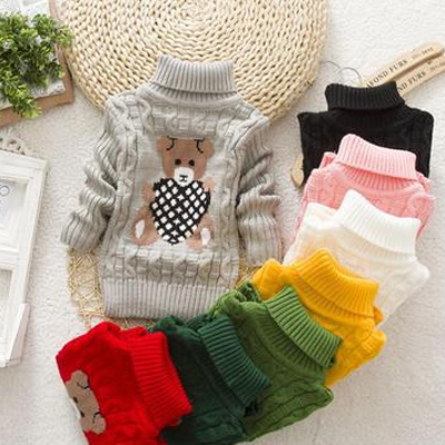 V-TREE New winter cotton knit children sweater long sleeve girls sweater kids cardigan girls clothing coat kids winter clothes