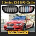 1 пара решетка для BMW 3 серии E92 E93 06-09 2 двери глянец Черный автомобиль широкий почечный гриль гоночный гриль автомобильный Стайлинг 8P