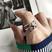 Silvology 925 Sterling Silver Line Weave Rings Silver Creative Elegant Japan Korea Style Rings For Women 2019 Design Jewelry