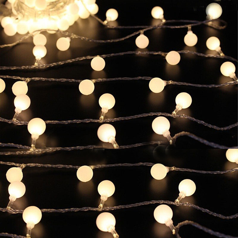 10M 50led Globe String Lights Ball EU Plug AC220V Holiday Wedding Xmas  Decoration Lamp Festival Christmas Light Outdoor Lighting