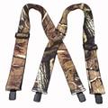 Tirantes camuflaje hombre's Braces hombre Vintage Outdoor Straps Bretelles adulto 4 clips suspensorio Ligas Tirantes 5*120 cm