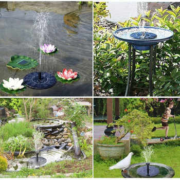7V Solar Power Fountain Pump Panel Watering kit Plants Power Pond Fountain For Garden Pool Pump Solar pump Waterfall For Pond