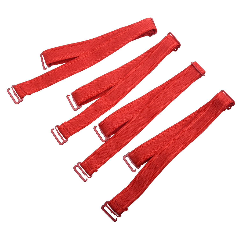 MAKE Hot 4 Pcs Detachable Red Bra Adjustable Elastic Soft Shoulder Strap