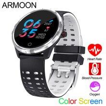 Купить с кэшбэком Smart Watch X7 Android IOS Smartband Heart Rate Fitness Bracelet Blood Pressure Fitness Tracker Color Screen Round Wristwatch