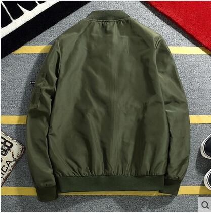 Flight jacket men spring 2018 new Korean casual jacket green big yards baseball clothes couple gowns