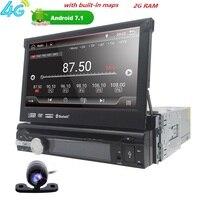 Hizpo 7 Авторадио 1din Android 7,1 gps мультимедиа dvd плеер автомобиля для навигации BMW головное устройство стерео Wifi BT 4 г SWC OBD2CD 50 мм