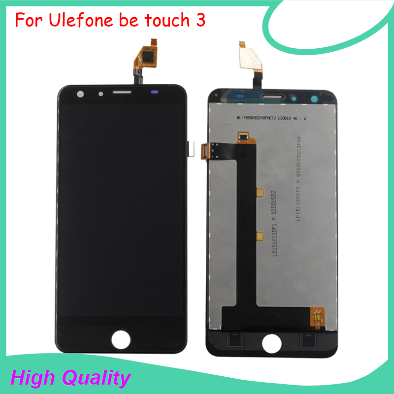 100% Original For Ulefone be touch 3 LCD Display+Touch Screen Digitizer Assembly Replacement Accessories Free shipping replacement original touch screen lcd display assembly framefor huawei ascend p7 freeshipping