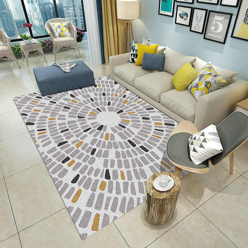 Modern Nordic Carpets For Living Room Home Carpet Bedroom Rugs Sofa Coffee Table Area Rug Soft Geometric Study Floor Mat