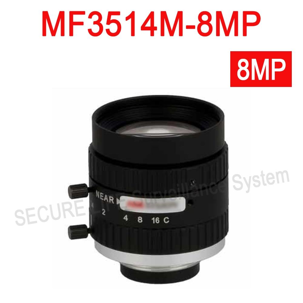 Hik cctv camera lens MF3514M-8MP Fixed Focal Manual Iris 8MP Lens 35mm hik повседневные брюки