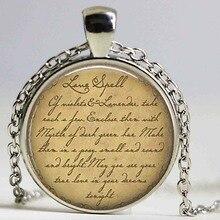 LOVE SPELL necklace Glass pendant Magic Spells Love Jewelry