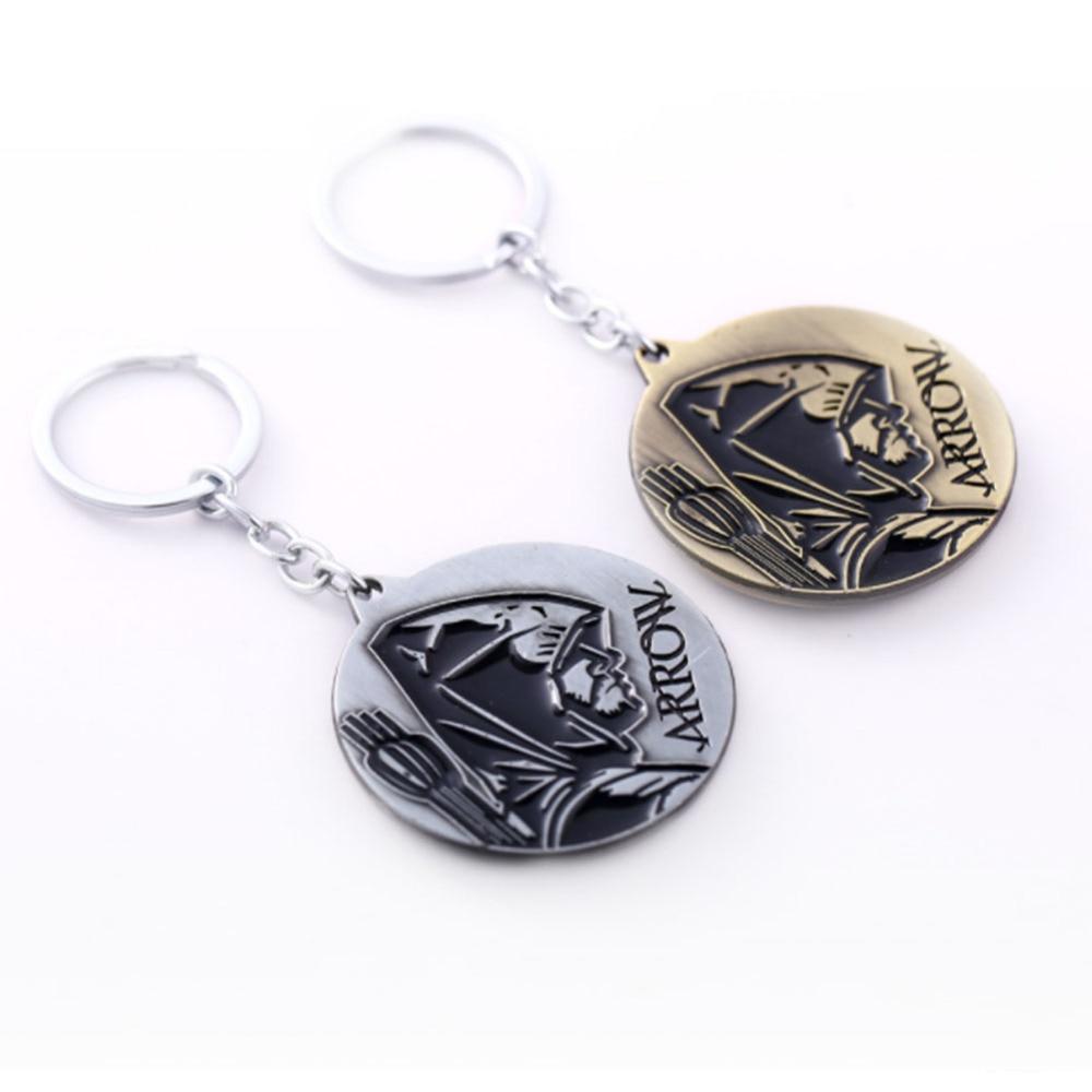 Superhero Green Arrow logo Arrow Pendant Metal Key chain Necklace Fancy Jewelry Costume Cosplay Halloween 1