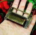 66*39 MM caixa rótulo alça pequena gaveta lidar com melhoria home etiqueta do titular do cartão de negócio de metal lidar com alça de bronze