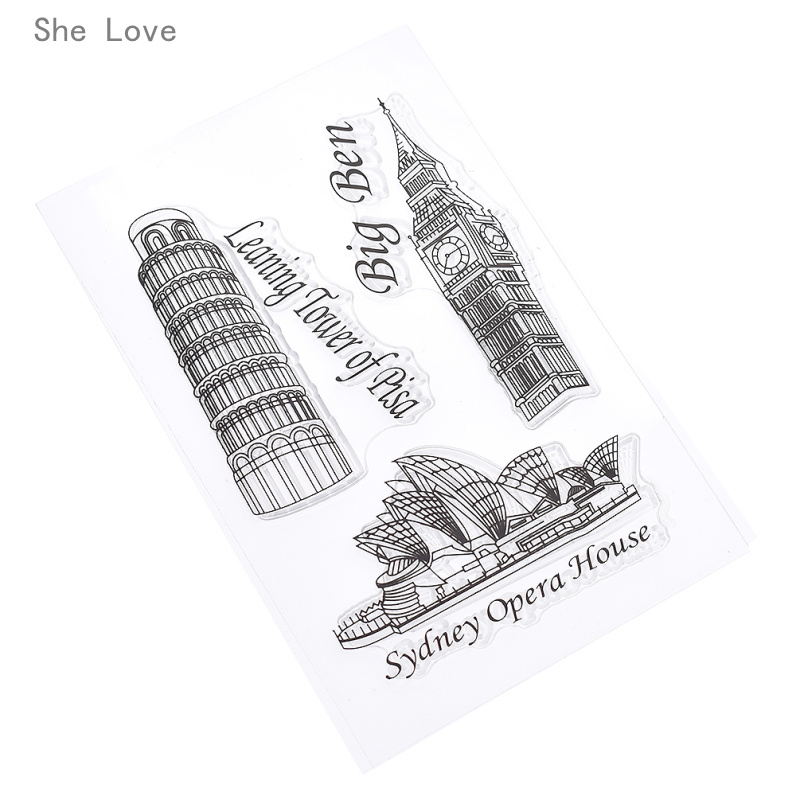 She Love Sydney Opera House Silicone Clear Stamp Transparent Rubber For Scrapbooking DIY Album Cards Making Decoration