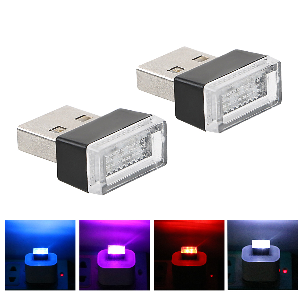 2x <font><b>Car</b></font> <font><b>USB</b></font> <font><b>LED</b></font> Atmosphere Lights Decorative Lamp For Infiniti FX35 Q50 G35 QX70 FX G37 Q30 QX56 I30 M35 FX37 QX4 QX60 FX50 M3 image