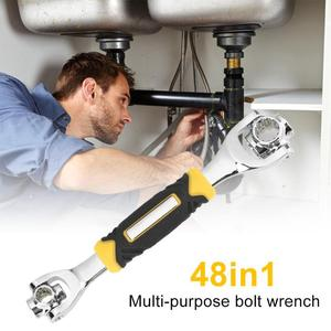 Image 3 - 1ソケットレンチロータリースパナで48スプラインボルトで動作360度回転スパナユニバーサル家具の車の修理ツール
