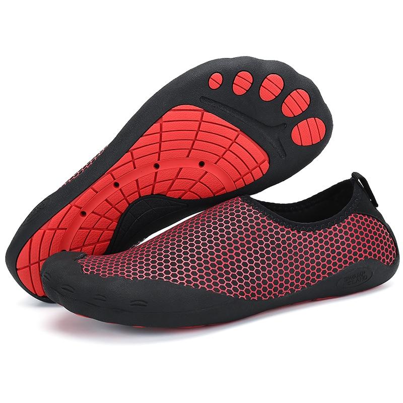 praia upstream descalços sapatos homens do aqua