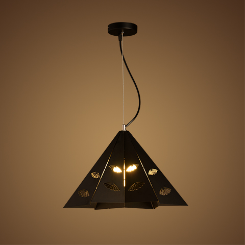 Triangle Iron pendant lights Creative living room bedroom cafe toys clothing store lighting pendant lamps ZA цена