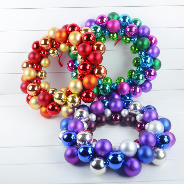 Christmas Ball Garlands.Us 35 08 Free Shipping 40cm Christmas Ball Garlands Festival Ornaments Door Hanging Wall Display Window Layout In Ball Ornaments From Home