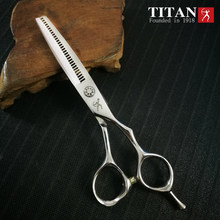 Titan-tijeras de peluquería, herramientas de Barbería para cortar Cabello, profesional, para adelgazamiento, acero vg10, 5,5, 6,0 pulgadas