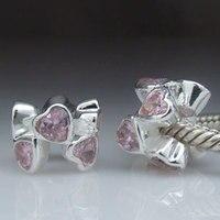 Оригинальный 925 Серебро Spacer Сердце Подвески Подходит для Pandora Браслеты sr0253 оптовая продажа