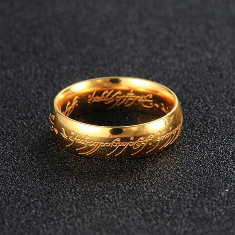 ELSEMODE nuevo acero inoxidable un anillo de poder el Señor de un anillo amantes mujeres hombres joyería de moda venta al por mayor Envío Directo