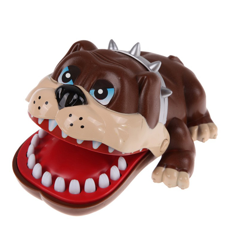 1Pcs New Funny Kids Gifts Cute Large Bulldog Mouth Dentist Bite Finger Toys Lucky Dog Tooth Game Toys Childrens Gifts