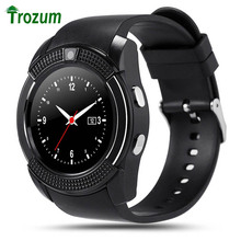 Sinterklaas 2017   New TROZUM Authentic Sports activities Watch Full Display screen Good Watch V8 For Android Match Smartphone Help TF SIM Card Bluetooth Smartwatch