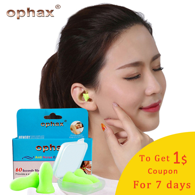 OPHAX 4pcs High Quality Cheap Soft Foam Anti Noise Ear Plugs For Sleep And Anti Noise Snoring Earplugs For Sleeping Traveling