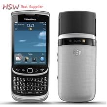"""100% Original Para Blackberry 9810 de Desbloqueo Del Teléfono Móvil bluetooth wifi QWERTY Teclado 3.2 """"teléfono De Pantalla Táctil Deslizante, Envío Libre"""