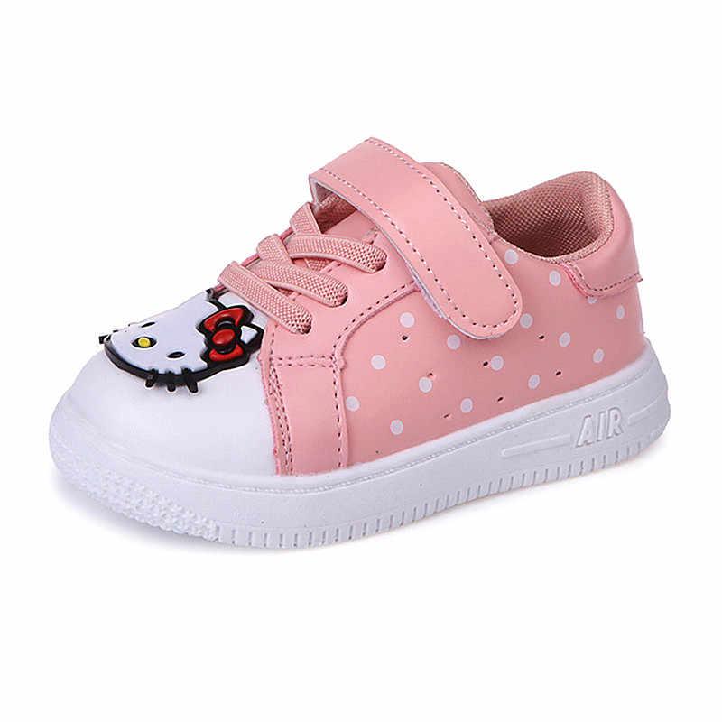 cb81fc98d KINE PANDA hello kitty детская обувь детский сад девочки повседневные  кроссовки маленькая девочка малыш детские спортивные