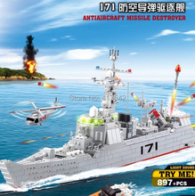 learning & education Kazi 84029 Missile Destroyer Military Building Block Set 897pcs Figures Bricks Boys Toys leg0 compatible