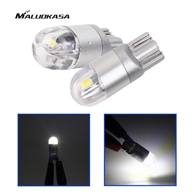 MALUOKASA W5W и Лампа T10 10 из светодиодов 3030 света номерного знака автомобиля СИД 12V 168 194 автомобилей лампы автомобилей-стайлинг Многофункциональный освещение