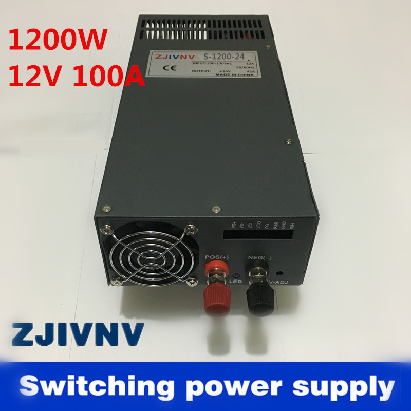 High power 1200W 12V 100A Switching Power Supply for industrial, led used AC 110v or 220V Input AC to DC (scn-1200-12)