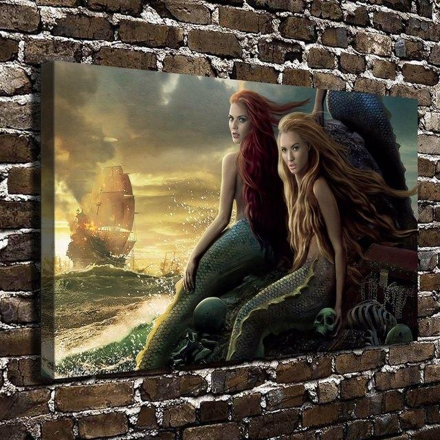 Naked mermaid girl