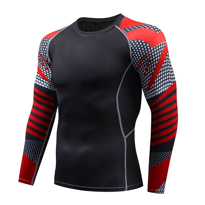 Aismz tracksuit men Moletom Masculino Printed male union suit long sleeve T-Shirt+tights 2 PC compression Set Fitness clothing