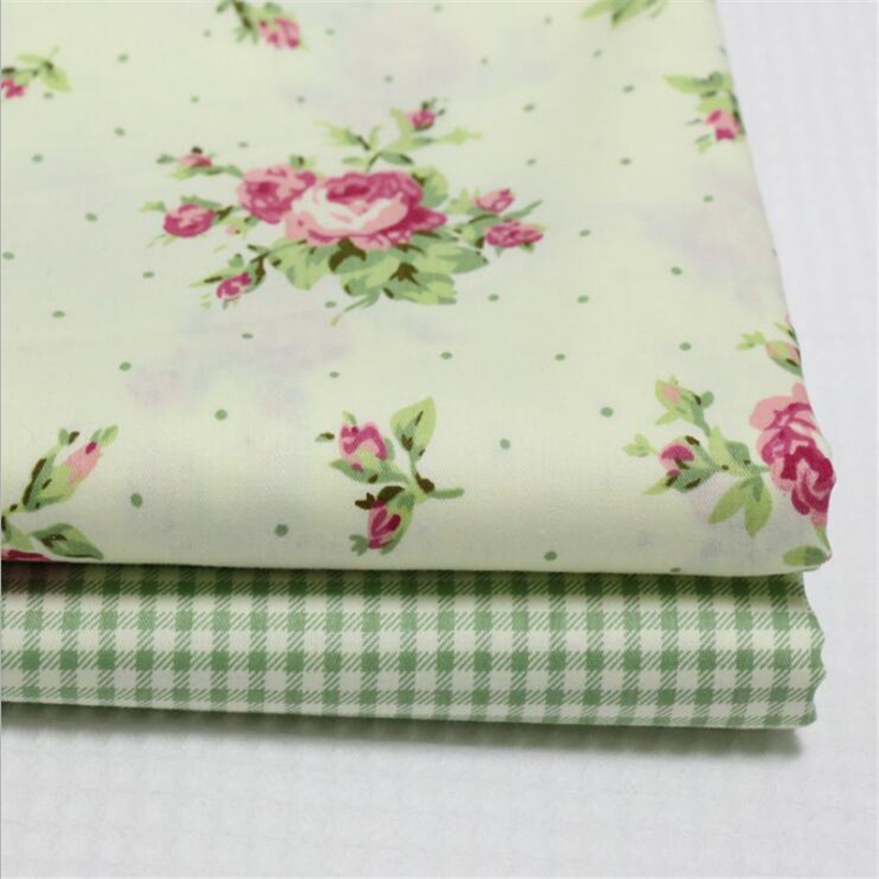 New 2 pic/lot 40x50cm flower Cotton Patchwork fabric tecido sewing bedding bag fabrics tissu quilts Handmade Doll DIY Cloth Q03