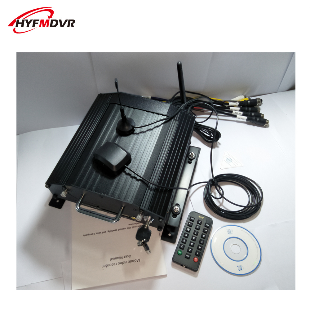 4G WiFi mdvr network hard disk video recorder vehicle monitoring host GPS remote positioning 4 channel device direct sales
