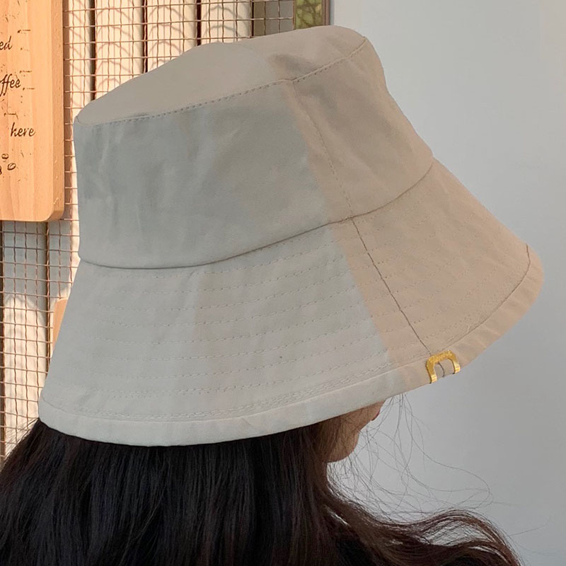 Solid Color Copper Standard Fisherman Hats Women Unisex Bucket Hat Caps Spring Summer Cap Cotton Can Be Folded Sun Hats in Men 39 s Bucket Hats from Apparel Accessories