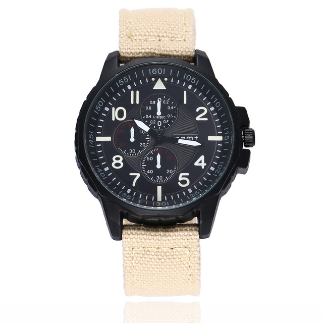 Mens Watches Top Brand Luxury Leather Casual Quartz Watch Men Military Sport Clo