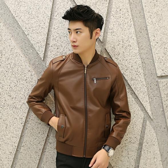 Young mens black leather jacket – Modern fashion jacket photo blog