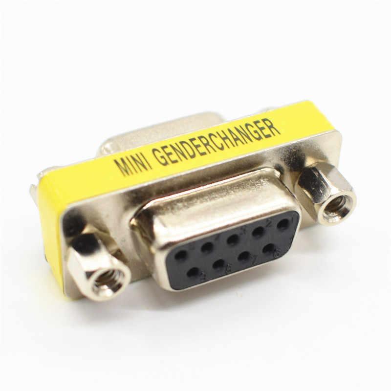 DB9 adaptateur Mini changeur de sexe | 9Pin femelle à femme, connecteur série RS232