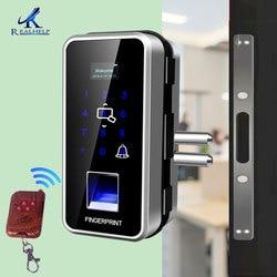 Bloqueo de control remoto con cerraduras de entrada sin llave de huella digital cerradura de puerta inteligente para el Sensor de huellas dactilares de la oficina en casa 2000 usuarios