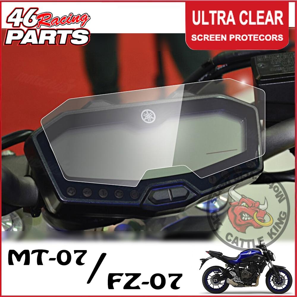 Protecteur de Film de Protection d'écran de groupe d'éraflure de groupe de roi de bétail de CK pour Yamaha MT07 MT 07 MT-07 FZ07 FZ 07 FZ-07